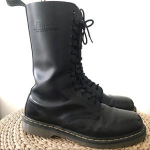 Doc Martens High Leather Lace Combat Boot 10